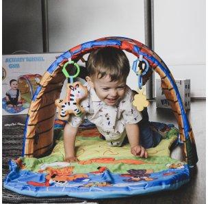 Развивающий детский коврик Домик с набором игрушек (74*40*58 см) от Meying